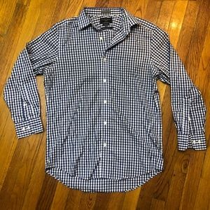 Black Brown 1826 Gingham Fitted Shirt